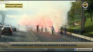 Fenerbahçe taraftarından derbi öncesi takıma sürpriz