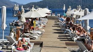 Marmaris sahillerinde yabancı turist bereketi
