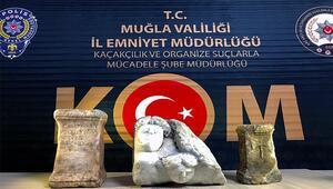 Menteşe'de tarihi eser operasyonu
