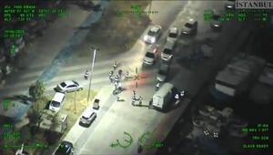 Akaryakıt kaçakçılarına helikopter destekli operasyon kamerada