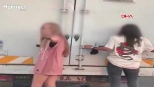 Kamyonete tutunan patenci kızlar: Abi çekme annem kızıyor