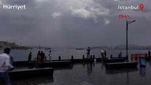 Arnavutköyde sağanak yağış sele neden oldu