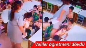 Taylandda öğrencileri döven öğretmene velilerden dayak