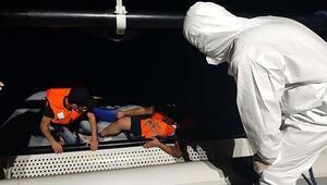 Muğlada Türk kara sularına geri itilen 4 sığınmacı kurtarıldı