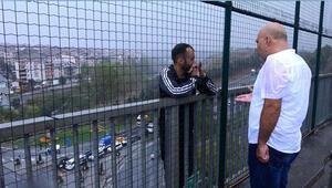 Sultangazi'de intihar girişimini görüntülemek için yarıştılar