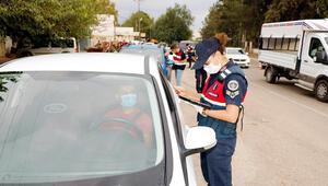 Maske takmayan 6 kişiye 5 bin 400 lira ceza