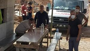 Elektrik akımına kapılan işçi öldü, yakınları gözyaşı döktü