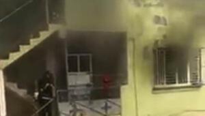 Gaziantep'te 2 katlı binada yangın