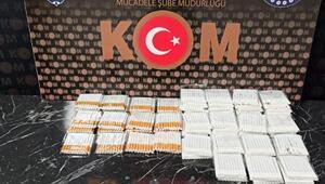 Kütahya'da 100 paket kaçak sigara ele geçirildi