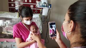 Prematüre bebeğe online takip
