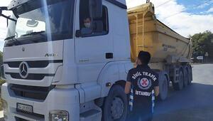 İstanbul'da hafriyat kamyonları denetlendi