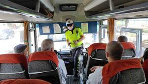 Düzce'de toplu taşıma araçlarında koronavirüs denetimi