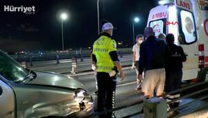 Haliç Köprüsünde feci kaza: Araçtan yola fırlayan çocuk bariyerlere çarparak öldü
