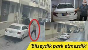 İzmir'de şaşırtan görüntü Saksı atıp, sopayla defalarca vurdu