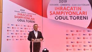 Seramik, çimento ve camın 2019 ihracat şampiyonları ödüllendirildi