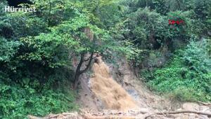 Rizede şiddetli yağış etkili oluyor, bazı köy yolları ulaşıma kapandı