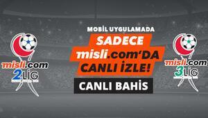 2.Lig ve 3. Lig maçları hangi kanalda Misli.com haftanın ücretsiz canlı yayın programı