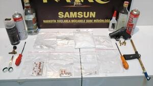 Samsunda narkotik polisinden metamfetamin imalatı operasyonu