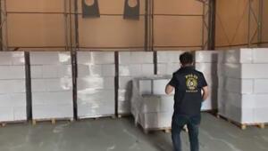 İstanbulda 9 ton sahte içkinin ele geçirildiği operasyon kamerada