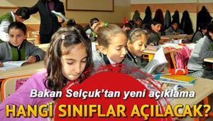 5 Ekimde hangi okullar-sınıflar açılacak, ortaokullar açılacak mı MEBten açıklama