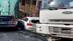 Eyüpsultanda hafriyat kamyonu dehşet saçtı