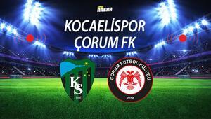 Kocaelispor Çorum FK maçı ne zaman saat kaçta hangi kanalda