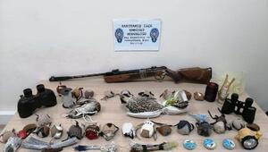Tuzakla yırtıcı kuşları yakalayan 3 kişiye 176 bin lira ceza