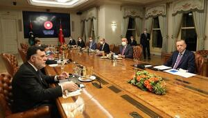 Cumhurbaşkanı Erdoğandan kritik Libya görüşmesi