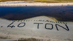 Van Gölü sahillerinde 40 ton çöp toplandı