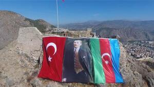 Amasyadan Azerbaycana bayraklı destek