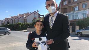 Oğlu fikir verdi, babası yaptı... Yerli akıllı maske seri üretime hazır