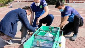 Eskişehirde üniversite öğrencileri su yüzeyini temizleyen robot geliştirdi