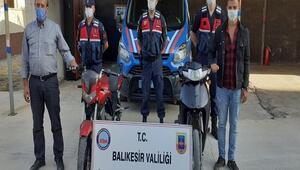 Balıkesirde çok sayıda motosiklet hırsızlığı şüphelisi yakalandı