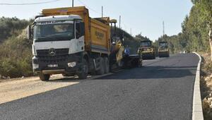 Karataş girişindeki yol asfaltlandı