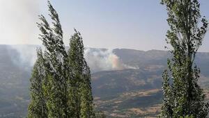 Ermenek'te, evde çıkan yangın ormana sıçradı