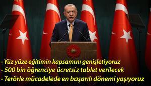 Son dakika: Cumhurbaşkanı Erdoğan, Kabinesi Toplantısı sonrası açıklamalarda bulundu