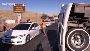Son dakika haberi: Şanlıurfada zincirleme trafik kazası: 14 yaralı