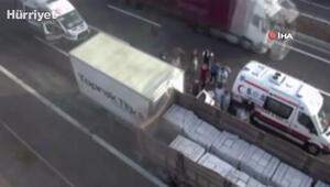 Son dakika... Kuzey Marmara Otoyolunda TIR ile kamyonet çarpıştı
