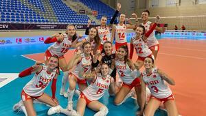 U17 Voleybol Kız Milli Takımımız, Avrupa Şampiyonası'nda yarı finalde