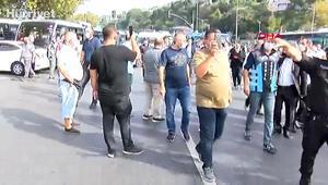 Haremde minibüsçüler ve polis arasında gerginlik