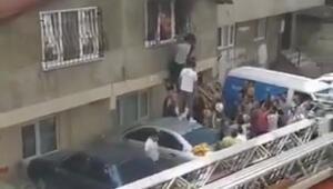 Ataşehirde can pazarı: Anne ve çocuklarını böyle kurtardılar