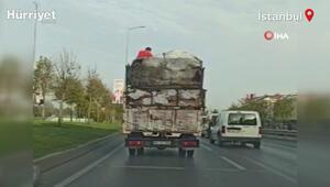 İstanbul trafiğinde hayrete düşüren görüntü