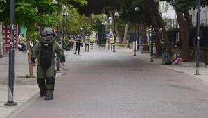 Askerlik şubesi önündeki şüpheli valizden kıyafet çıktı