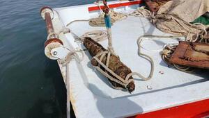 Kocaelide denizden tarihi top çıkarıldı