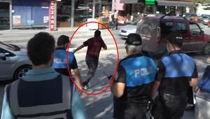 Polisi görünce böyle kaçtı Sebebi ise şaşkına çevirdi...