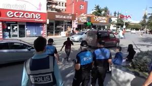 Maske denetimi yapan polisi görünce kaçtı