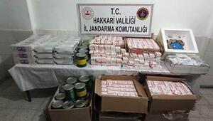 Hakkari'de araziye atılmış tıbbi malzeme ve kaçak sigara ele geçirildi