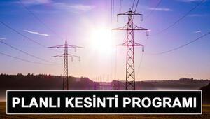 İstanbulda elektrikler ne zaman gelecek BEDAŞ ve AYEDAŞ elektrik kesintisi programı