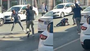 Ankarada sokak ortasında kavga