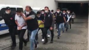 Son dakika haberi: İstanbulda suç örgütü operasyonu kamerada: 9 gözaltı